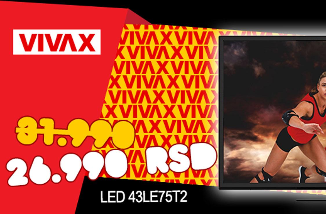 VIVAX LED 43LE75T2! - Super cena!
